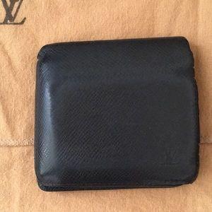 Authentic Louis Vuitton Black Epi Leather Wallet